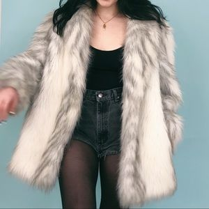 VTG 70s Vegan Faux Fox Fur Jacket